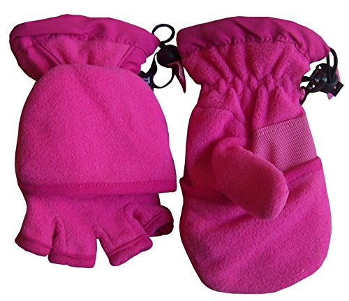 - N'Ice Caps Big And Little Kids Thinsulate Lined Converter Fingerless Glove To Mitten (8-10yrs, fuchsia)