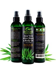 Aloe Vera After Shave & Body Gel - Unscented - Naturally...