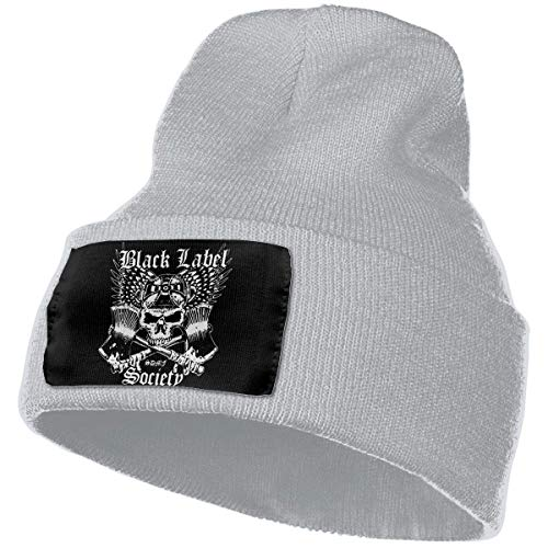 0a5916a5c580f Mens   Womens Black Label Society Logo Skull Beanie Hats Winter Knitted  Caps Soft Warm Ski Hat Black