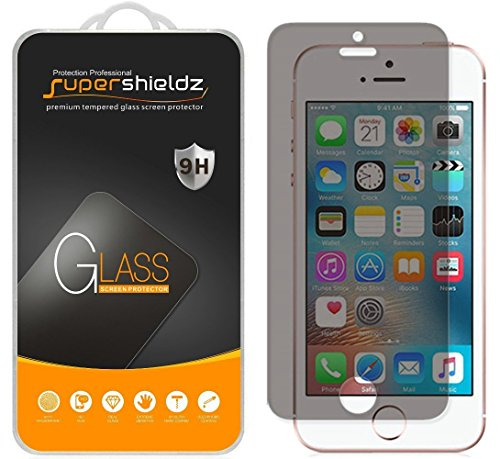 (2 Pack) Supershieldz for Apple iPhone SE, iPhone 5S, iPhone 5C and iPhone 5 (Privacy) Anti Spy Tempered Glass Screen Protector, Anti Scratch, Bubble Free (Best Privacy Screen Protector For Iphone 5s)