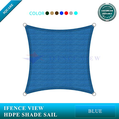 Ifenceview 6 x6 -6 x24 Rectangle UV Blocking Sun Shade Sail Canopy Awning for Patio Yard Garden Driveway Outdoor Facility 6 x 6 , Blue