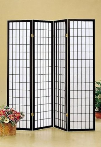 Legacy Decor 4 panel Shoji Screen Room Divider,