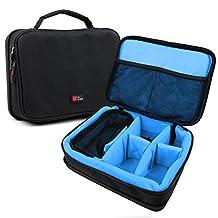 Protective EVA Portable Speaker Case (in Blue) for JAM Classic Bluetooth Speaker, Replay HX-P250BK & Storm Wireless Bluetooth Speaker - by DURAGADGET