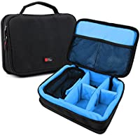 Protective EVA Action Camera Case (in Blue) for the Transcend DrivePro 200 16GB Car Video Recorder with Built-In Wi-Fi - by DURAGADGET