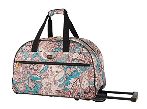 lucas-luggage-22-inch-printed-rolling-carry-on-suitcase-wheeled-duffel-22in-savey