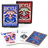 Bicycle Dragon Back Playing Cards (Colors May Vary)