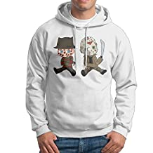 Daryl Men Comfortable Jason Voorhees And Freddy Krueger Pullover White