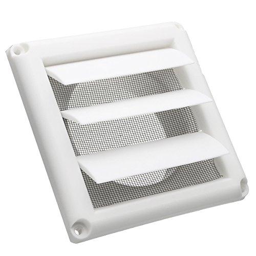 HITSAN Plastic Ventilator Cover Air Vent Grille Ventilation Cover Wall Grilles Protection Cover One Piece (Plastic Ventilator)