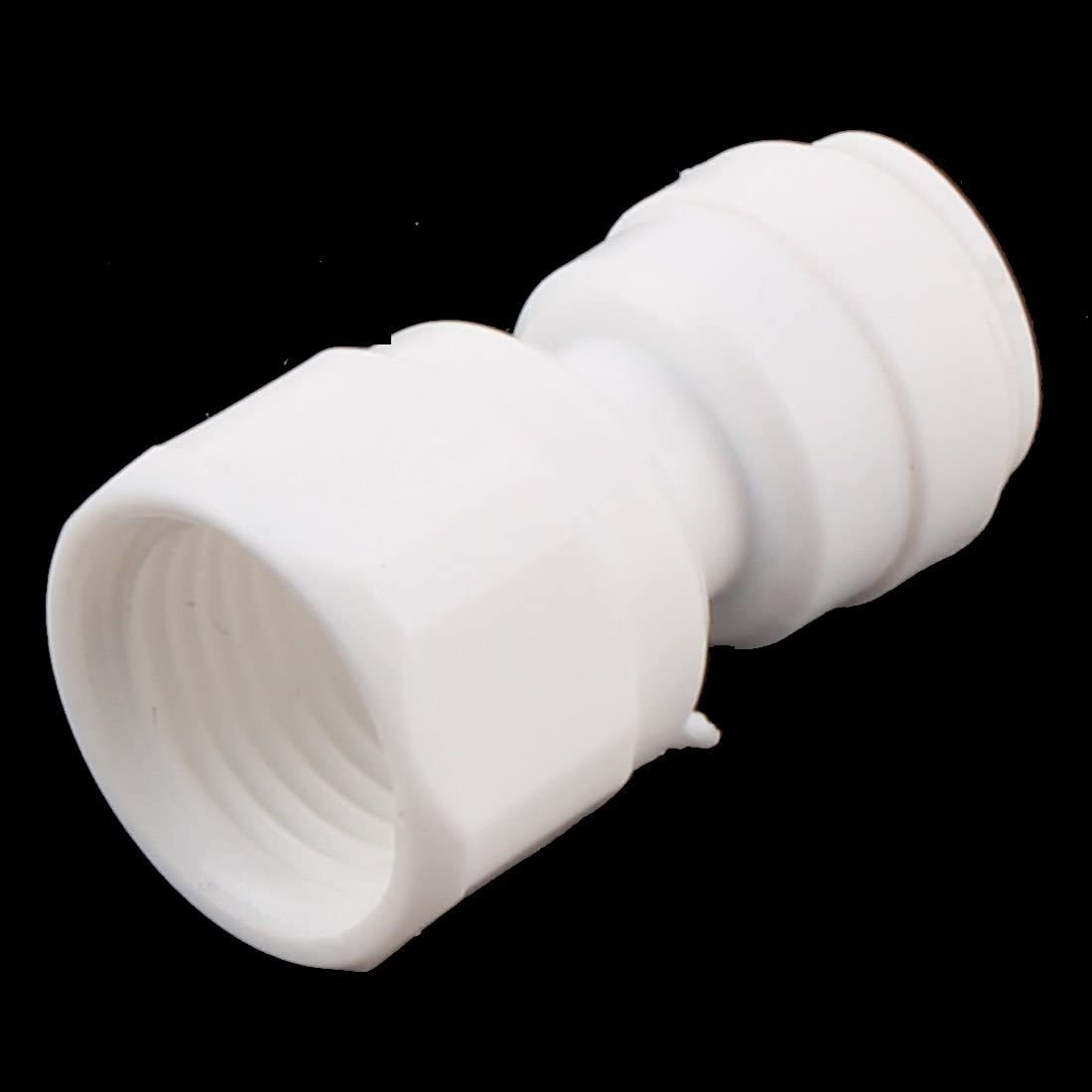 uxcell Home Use 6.5mm Inner Dia One Way Water Dispenser Quick Adapter Connector White