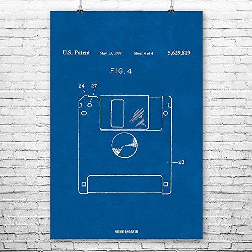 Floppy Disk Poster Patent Art Print Blueprint