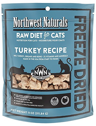 Northwest Naturals Turkey Freeze Dried Raw Diet For Cats 11 Ounces