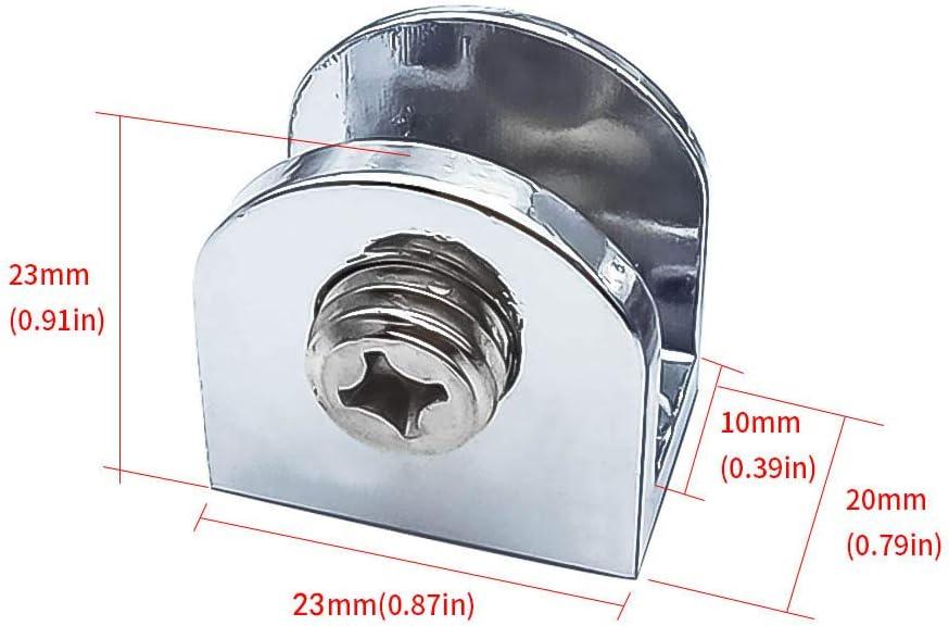 Mila-Amaz 6 Pcs Adjustable Glass Bracket Zinc Alloy Glass Clamp Solid Glass Shelf Clamp Holder for 6-8MM Thickness Glass