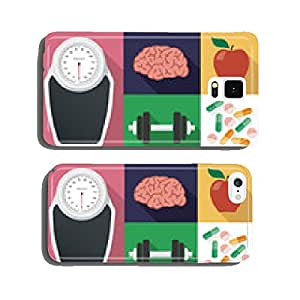 Diet and health vector set cell phone cover case iPhone6