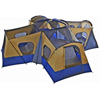 Family Cabin Tent 14 Person Base Camp 4 Rooms Hiking...