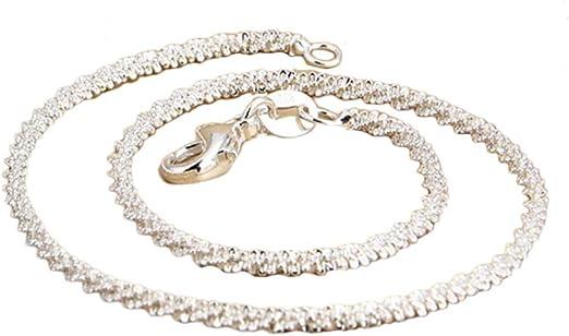 Plata Plateado Diamante Bling Elástico Tobillera Cadena Pulsera de tobillo