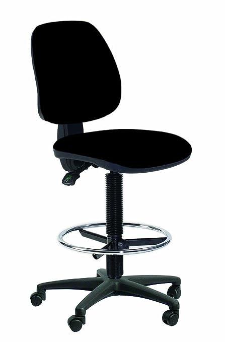 Topsit IND201 - Silla de escritorio alta (con reposapiés y respaldo ...