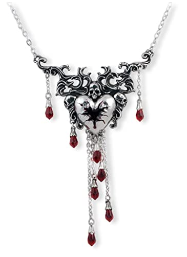 pentagram red jewelry chain black triple gothic necklace on pin my