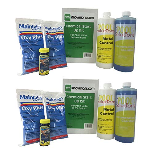 Swimming Pool Spring Startup Chemical Opening Kit for Up to 20K Gallons (2 Pack)