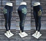 Platonic Crystal Leggings - Sacred Geometry Leggings - Black Leggings - Sacred Geometry Clothing - Metatron's Cube - Yoga Wear