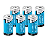 Protected 16340 Lithium Battery 6-Pack Zeasun 800mAh 3.7V Li-ion Rechargeable Battery for LED Flashlight Video Game Lamp Torch Lighting Calculators Electric Toys