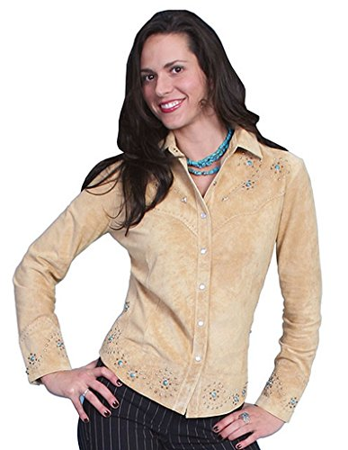 Scully Women's Studded Leather Jacket Tan X-Large