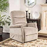 Alan Latte Fabric Lift up Chair Recliner