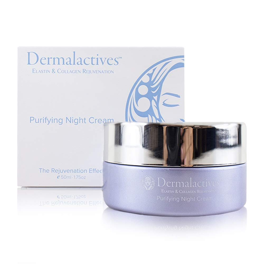 Dermalactives Purifying Night Cream - Penetrates Deep Into The Skin To Hydrate While Purifying Each Dermal Layer Fighting Against Dryness and Daily Environmental Damages