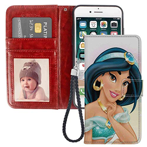 Wallet Case Compatible for Apple iPhone 6 or 6S (4.7in) Disney Princess Jasmine 1