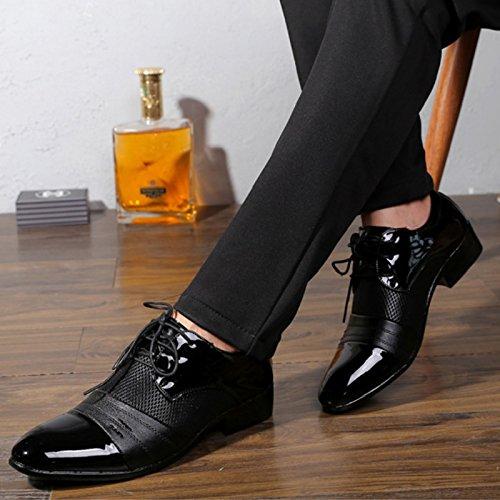 Uomo Pelle Nero Martin Style di Piedi in Elegante Pelle Sintetica Mocassini Scarpa per British Vestito Uomo Affari Scarpa Oxfords Pelle Comfort Punta Scarpe Scarpa gCq1AI