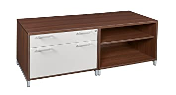 Amazon com: OneDesk Lateral File/ Open Storage Cabinet Low Credenza