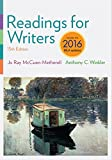 img - for Readings for Writers, 2016 MLA Update book / textbook / text book