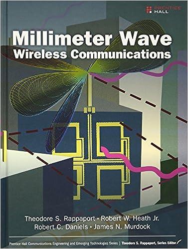 Millimeter Wave Wireless Communications (Prentice Hall