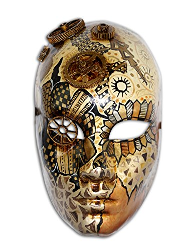 Venetian Full Face Mask Volto Mechanic with Steampunk Gizmos ()