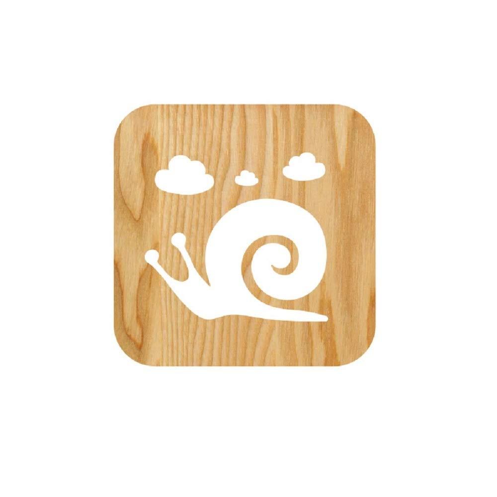 Snails LEDテーブルデスクランプ3dランプ漫画木製Nightlight、USB電源ホームベッドルームの装飾ランプ、3d Wood Snails Wood CarvingパターンLEDナイトライトウォームホワイト B07DB7H3NV B07DB7H3NV, インテリアショップ オルディ:64313f76 --- ijpba.info