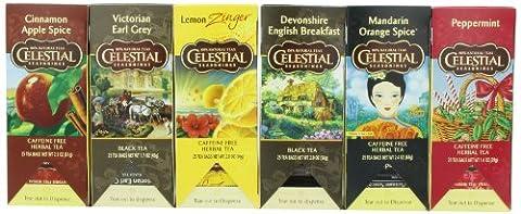 Celestial Seasonings Herbal and Black Tea Variety Pack, (Pack of 6) - Victorian Earl Grey Tea