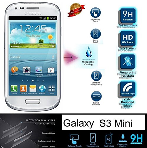 S3 Mini Screen Protector, Danyee LIFETIME WARRANTY Samsung Galaxy S3 Mini I8190- 9h Hardness Premium Tempered Glass Screen Protector Real Explosion-proof/anti-scratch/anti-shatter/oleophobic Coating/ultra - Mini Screen I8190 Protector