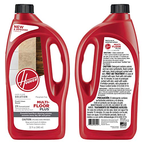 - HOOVER Multi-Floor Plus Hard Floor Cleaner Formula Detergent Solution, 32 oz, AH30425NF
