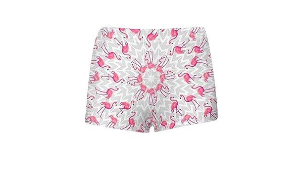 INTERESTPRINT Boys Tropical Flamingo ComfortSoft Printed Boxer Briefs 5T-2XL