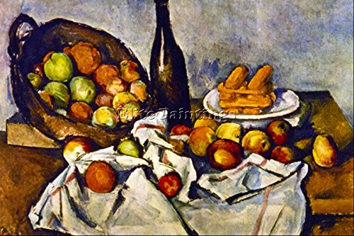 PAUL CEZANNE APPLE BASKET BY CEZANNE ARTIST PAINTING REPRODUCTION HANDMADE OIL 16x24inch MUSEUM QUALITY ()