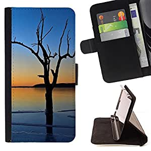 DEVIL CASE - FOR LG OPTIMUS L90 - Sunset Tree Beautiful Nature 3 - Style PU Leather Case Wallet Flip Stand Flap Closure Cover