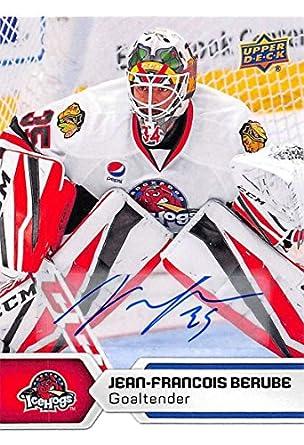 hot sale online ef8db b36b5 Amazon.com: 2017-18 Upper Deck AHL Autographs #72 Jean ...