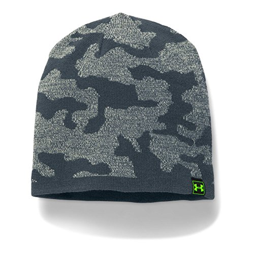 Under Armour Men's Reversible Beanie, Steel/Stealth Gray, One Size