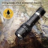 VOLADOR DF10 Dive Light, 1080Lumens Scuba Diving