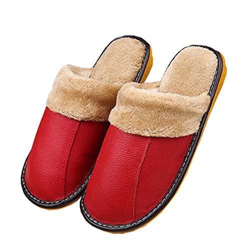 In Indoor E Pantofole outdoor Scarpe Caldo New Slippe Antiscivolo Inverno Memory Donne Impermeabile Red Autunno Foam Uomini Cotone qPx8U1