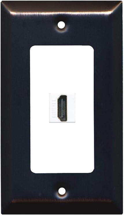 OSD-HDMI-1-PORT Single Port HDMI Decora Wall Plate