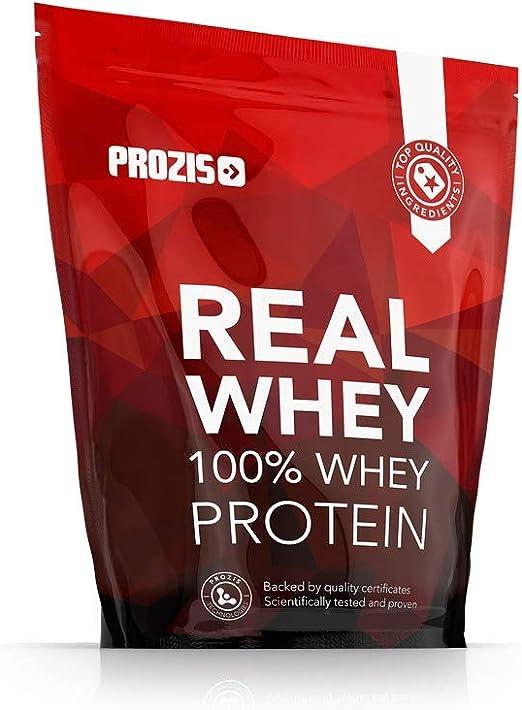 Prozis 100% Real Whey Protein, Suplemento Puro en Polvo con un Perfil Completo de Aminoácidos y Rico en BCAA, Chocolate-cacahuetes - 400 g