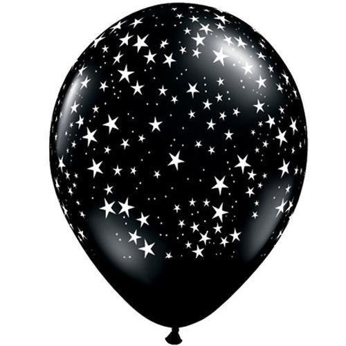 Onyx Black Stars-A-Round Qualatex 11