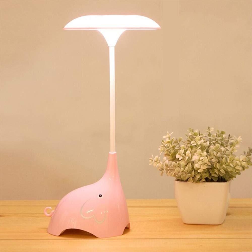 LJNYF Cute Elephant LED-Schreibtischlampe LED-Nachtlicht mit Augenschutz Nachttischlampe f/ür Kinder ber/ührungsempfindliche USB-Tischlampe mit 3 Helligkeitsstufen