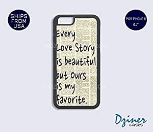 iPhone 6 Case - 4.7 inch model - Vintage Love Story Quote iPhone Cover