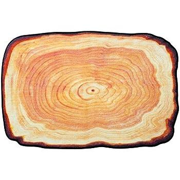 Amazon.com: Alfombra redonda de madera para niños de ...
